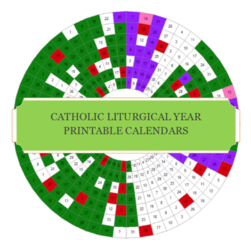 photograph about Liturgical Year Calendar Printable named liturgical calendar