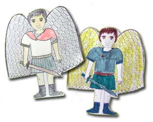 feast of the guardian angels coloring pages - colorful st michaels