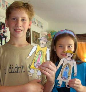 juan diego paper dolls