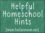helpful homeschool hints