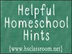 helpful homeschool hints